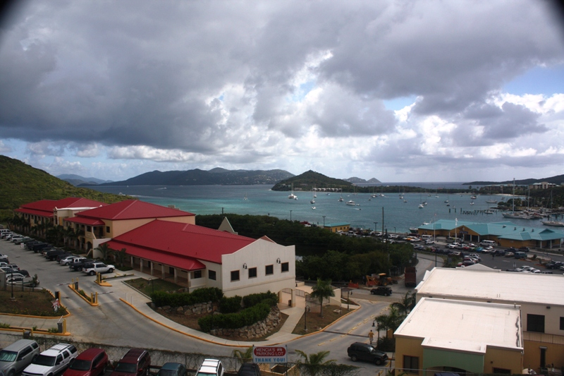 views over Red Hook towards St John